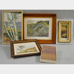 John Mulcahy (American, b. 1931)      Five Landscapes
