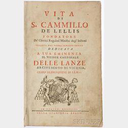 Porro, Ignazio (fl. circa 1748) Vita di S. Camillo de Lellis Fondatore De' Cherici Regolari Ministri degl' Infermi.