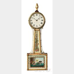 "Aaron Willard Jr. Mahogany Patent Timepiece or ""Banjo"" Clock"