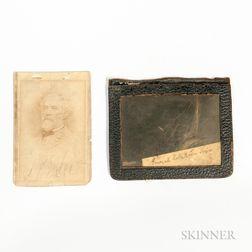 Carte-de-visite and Lock of Hair from General Robert E. Lee