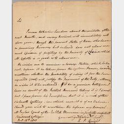 Knight, Richard Payne (1750-1824) Autograph Letter Signed, 16 November 1816.