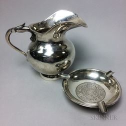 Two Pieces of Mexican Sterling Silver Tableware