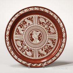 Minton Aesthetic Movement Sgraffito Charger