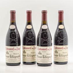 Domaine du Vieux Telegraphe Chateauneuf du Pape 1998, 4 bottles