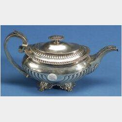 Late George III Silver Teapot