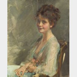 Emil Fuchs (American, 1866-1929)  Portrait of a Young Woman