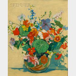 Manner of Margaret Jordan Patterson (American, 1867-1950)      Still Life with Bouquet of Flowers