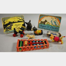Seven Assorted Scottie Dog Figural and Theme Toys