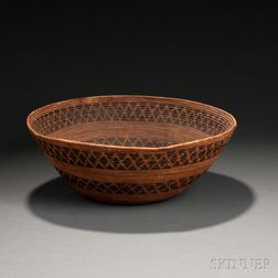 Yokuts Coiled Basketry Bowl