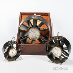Three Keuffel & Esser & Co. Anemometers