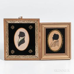 Two Hollow-cut Silhouette Portraits of Gentlemen
