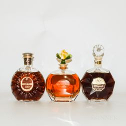 Mixed Cognac, 7 bottles (oc)
