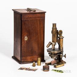 C. Reichert Compound Microscope and Case