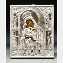 Russian Icon Depicting the Pochaev Mother of God