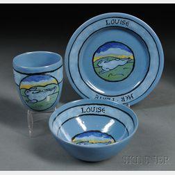 Paul Revere Pottery Breakfast Set