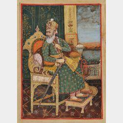 Miniature Portrait of a Mughal Emperor
