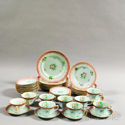 Fifty Pieces of Adams Ironstone Calyx Ware