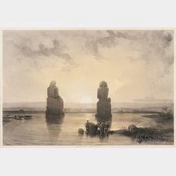 David Roberts (Scottish, 1796-1864)      Five Views of Egypt:   Thebes, Great Hall at Karnac, Nov. 28.1838.