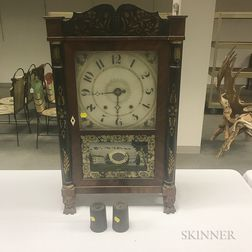Eli Terry Stenciled Column and Splat Shelf Clock