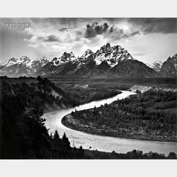 Ansel Adams (American, 1902-1984)      The Tetons and the Snake River, Grand Teton National Park, Wyoming