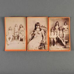 Three Cabinet Card Photographs Depicting Yuma Indians