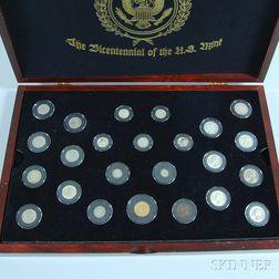 Cased U.S. Mint Bicentennial Coin Group