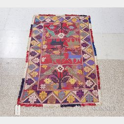 Indian Embroidered Coverlet
