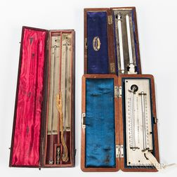 Three Negretti & Zambra Cased Hygrometers