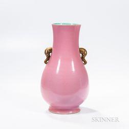 Monochrome Pink-glazed Vase