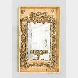 Chinese Chippendale Giltwood Mirror