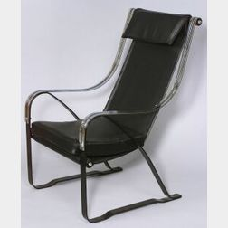 Industrial Design Chrome Spring Chair