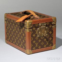 Louis Vuitton Leather and Brass-mounted Coated Canvas Hard-side Jewelry Travel Case