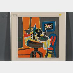 After Jacques Villon (French, 1875-1963)      Tea Table Still Life