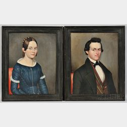 Philip Boss (American, 19th Century)      Two Portraits: Mr. William Penn Sheldon of New York State, and Possibly His Sister.