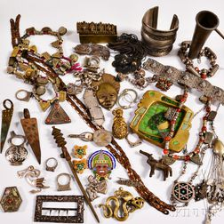 Group of Mexican, South American, and African Jewelry and Accessories