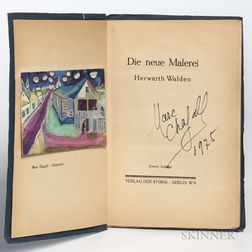 Chagall, Marc (1887-1995) and Herwarth Walden (1879-1941) Die Neue Malerei  , Signed by Chagall.