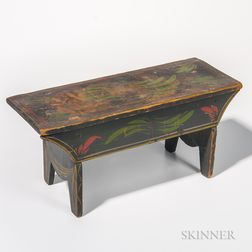 Paint-decorated Footstool