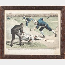 """The Winning Run"" Framed Lithograph"