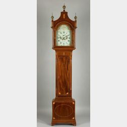 Federal Mahogany Inlaid Tall Case Clock