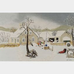 "Anna Mary Robertson ""Grandma"" Moses (American, 1860-1961)    March"