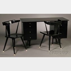 Paul McCobb for Planner Group Desk and Two Chairs