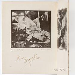 Chagall, Marc (1887-1995) Sturm Bilderbucher, I/Marc Chagall  , Signed by Chagall.