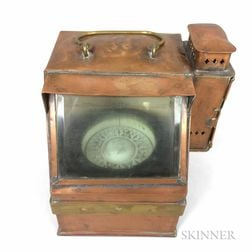 Ritchie Copper and Glass Ship's Compass