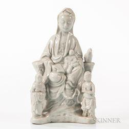 Blanc-de-Chine Figure of Guanyin