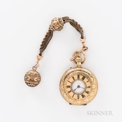 J.B. Benson 18kt Gold Demi-hunter Watch
