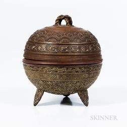 Tripod Bronze Vessel and Cover