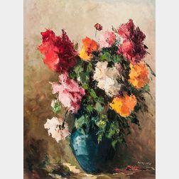 American School, 20th Century      Still Life Bouquet.