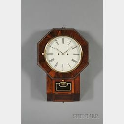 Rosewood Drop Octagon Thirty-Day Lever Spring Wall Clock by Atkins Clock Company