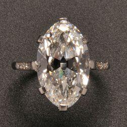 Art Deco Platinum and Diamond Ring, Cartier