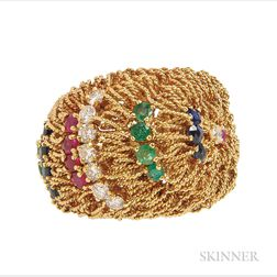 18kt Gold Gem-set Ring, Cartier